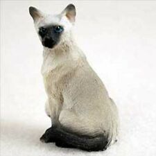 Siamese Small Cat Figurine
