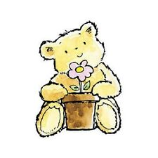 PENNY BLACK RUBBER STAMPS GIFT BEAR STAMP