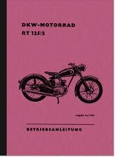 DKW RT 125/2 Bedienungsanleitung Betriebsanleitung Handbuch RT125/2 User Manual