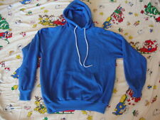 Vintage 80's HANES royal Blue BLANK Hoody Hoodie Hooded skateboard Sweatshirt M