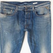 Mens Replay M925 SLOHAND Slight Bootcut Blue Jeans W38 L34