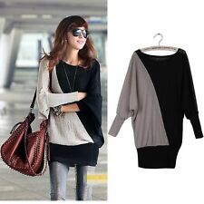 New Trendy SweetLong SleeveBatwing Long Sleeve Loose Sweater  T-shirt Tops