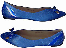 NWOB SVELTE SHIMMERY IMPERIAL BLUE  BALLET FLAT SHOES_S37 /38
