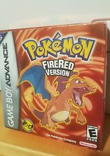 POKEMON FIRE RED VERSION Game Boy ADVANCE GBA COMPLETE CIB Box + Game