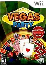 VEGAS PARTY WII NEW! LAS VEGAS STRIP, BLACKJACK, POKER, CRAPS, ROULETTE SIN CITY