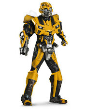 Mens Theatrical Quality Transformers Movie 3 Bumblebee Costume-Men (42-46)-Yello