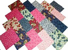 "40 5"" Quilting Fabric Squares DANCING PINKS and BLUES/BUY IT NOW!"