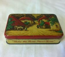 Vintage retro blue bird toffee tin Take the Home Sweet Home Harry Vincent Ltd
