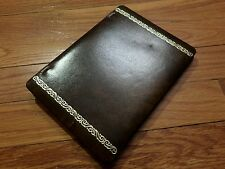 vintage 5x7 photo album brown leather photography book