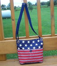 Patriotic Red White and Blue Flag Cross body bag (Made In USA)