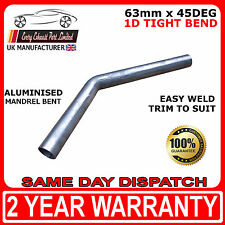 "2"" 1/2 (63mm) 45 Degree Tight 1D Aluminised Exhaust Mandrel Bend - SMOOTHFLOW"
