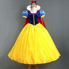 Adult Ladies Deluxe Snow White Fancy Dress Fairy Tale Princess Costume Outfit