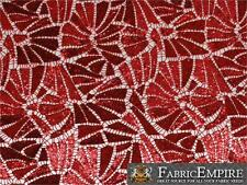 "Guipure Fabric Sequin Lace Celebrity RED 48"" Wide Sold by the Yard"