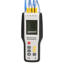 K-Type Digital Thermometer Thermocouple 4-Channel Sensor LCD display EA9