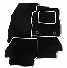 MINI COOPER CONVERTIBLE 2008+ TAILORED CAR MATS BLACK CARPET WITH WHITE TRIM