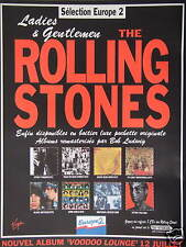 PUBLICITÉ 1994 EUROPE 2 LADIES & GENTLEMEN THE ROLLING STONES - ADVERTISING