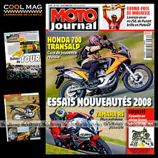 MOTO JOURNAL N°1781 HONDA XL 700 TRANSALP YAMAHA YZF 600 R6 MT-01 MOTO TOUR 2007