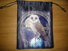 new LISA PARKER Pure Silk Tarot Bag SPELLKEEPER OWL runes crystals jewellery