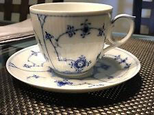 Royal Copenhagen BLUE FLUTED PLAIN (1/78) - Oversized Cup & Saucer