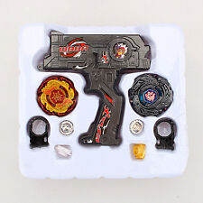New 4D Metal Master Fusion Top Rapidity Fight Rare Launcher Grip Beyblade Set