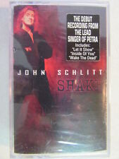 JOHN SCHLITT SHAKE FACTORY SEALED CASSETTE TAPE PETRA SINGER CHRISTIAN ROCK OOP