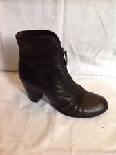Clarks Black Ankle Leather Boots Size 7