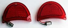 1957 Chevy 57 Chevrolet LED red tail lights NEW pair Bel Air one fifty two ten