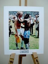 BOBBY MOORE & PELE SIGNED PHOTO 1970 WORLD CUP FINALS ENGLAND V BRAZIL