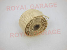 UNIVERSAL ROYAL BIKES TITANIUM EXHAUST SILENCER HEAT SINK COOLING WRAP CREAM