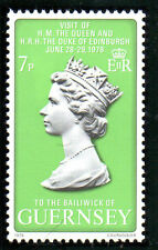 GUERNSEY 1978 HM QUEEN CORONATION ROYAL VISIT COMMEMORATIVE STAMP MNH