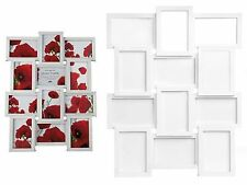 Family Picture Photo Frame Holds 12 Photos Aperture Hanging Multi Frame White