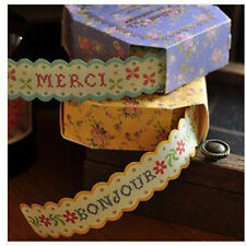 2015 Fresh Floral Print DIY Masking Paper Roll Tape Decorative Adhesive Sticker