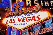 Framed Print - WELCOME TO LAS VEGAS Bright Light (Picture Poster USA Art)