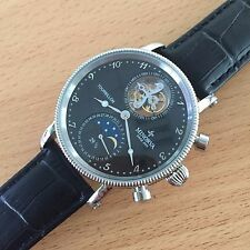 MINORVA SS Moonphase date 1-Min.Real Flying Tourbillon black