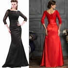 Cheap Victorian Long LACE Ballgown Bridesmaid Evening Prom Party Mermaid Dresses