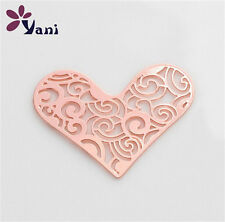 New Floating charm 22mm 1Pcs Rose Gold Heart for glass Living Memory Locket