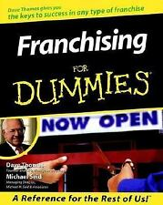 Franchising For Dummies (For Dummies (Computer/Tech)) Thomas, Dave, Seid, Micha