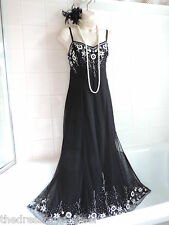 WALLIS 16 Vintage 1920s Bead Sequin Deco Downton Charleston Flapper Gatsby DRESS
