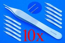 10 chirurgische Pinzetten nach Adson 1x2 Zähne, Top Qualität Gewebe Pinzette