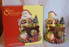Fitz and Floyd Santa and Toys We Wish You a Merry Christmas Music Box Holiday