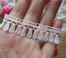 1 yard off White Fringe Lace Trims Wedding Tassel Ribbon Applique Sewing Craft