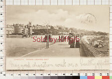 Exmouth, Parade looking East early vintage postcard London postmark 1903
