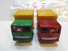 MATCHBOX LOT OF 2 LOOSE SUPERFAST REFUSE TRUCK - ENGLAND / CHINA BASE 1979