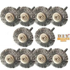 DIY Crafts®10Stainless Steel Wire Wheel Brushes Rotary Tools for Rotary Accessoh