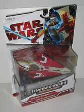 Star Wars Transformers Crossovers Obi Wan Kenobi to Jedi Starfighter MIP