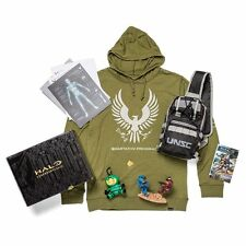 HALO Initiation Loot Crate Figure/Spartan IV HOODIE Size L Complete Sealed
