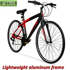 ALUMINUM HYBRID BIKE RED 700C MEN'S CRUISER COMMUTER SPORT ROAD BICYCLE NEW!