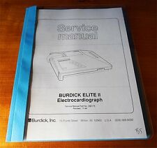 Burdick Elite II ECG / EKG Electrocardiograph Service Manual