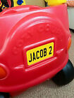 ANY NAME+COLOUR personalised number plate Little Tikes cosy cozy coupe car kids