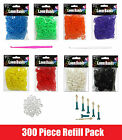 500 Rubber Loom Band SOLID COLOUR REFILL PACK Friendship Band Twist Loop Rainbow